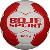 Boje Sport Gewichtsball Damen für Handballtraining, Größe: 2, 600 g, Farbe: rot-weiß
