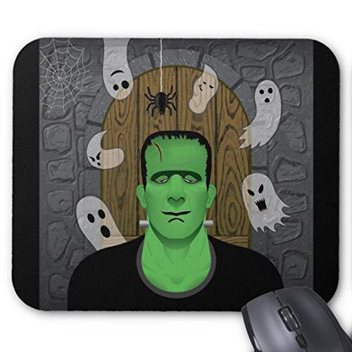 Mauspad für Gaming, rechteckig, für Computer, Laptop, Frankenstein Geister