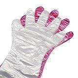 50PCS Wegwerfweiche Plastikfilm-Handschuhe langer Arm-Veterinäruntersuchungs-Handschuh für Haustier-Tiere