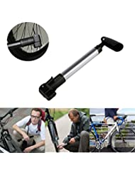 Mini Bomba de Aire de Bicicleta de Aleación de Aluminio, WEINAS® Mini Bomba Ligera Portátil - Carretera Montaña o BMX Bicicletas 130 PSI de Alta Presión Portátil