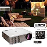 4500 Lumens Projecteur de cinéma maison LCD LED soutien 1080P 720P Video Gaming Projector for PC Blu-ray Xbox PS3 Mac TV with Speakers HDMI Proyector