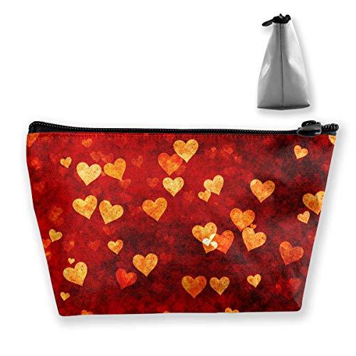 Kosmetiktasche Trapez Aufbewahrungstasche Grunge Herz Liebe Licht Reise Kosmetiktasche Tolietry Taschen mit Reißverschluss