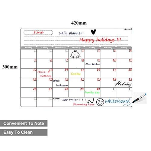 Calendario Scrivibile.Abimars Calendario Da Frigorifero Lavagna Magnetica