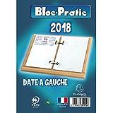 EXACOMPTA - Bloc Pratic Ephéméride Date à Gauche 120x82 mm - Année 2018