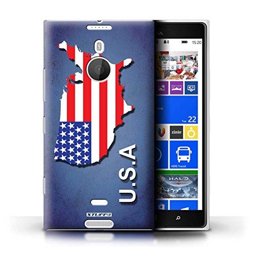 Kobalt® Imprimé Etui / Coque pour Nokia Lumia 1520 / Australie conception / Série Drapeau Pays Amérique/Américain/USA
