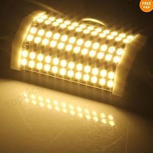 KK-LIGHT R7s Lampe à 42LED SMD à intensité réglable Blanc chaud 118mm
