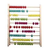 Pixnor Abbaco di legno classico giocattolo educativo per bambini colorati by Pixnor