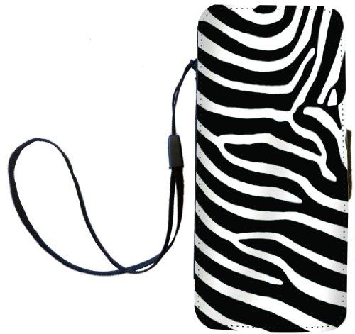 Rikki Knight Zebra Streifen Design Flip Wallet iphonecase mit Magnet Klappe für Apple iPhone 5C - Klappe Zebra