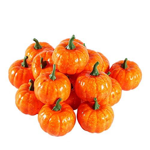 (Zerodis Künstliche Simulation Mini Kürbis Frucht Gefälscht Lebensecht Halloween Haus Garten Dekor 16Pcs)