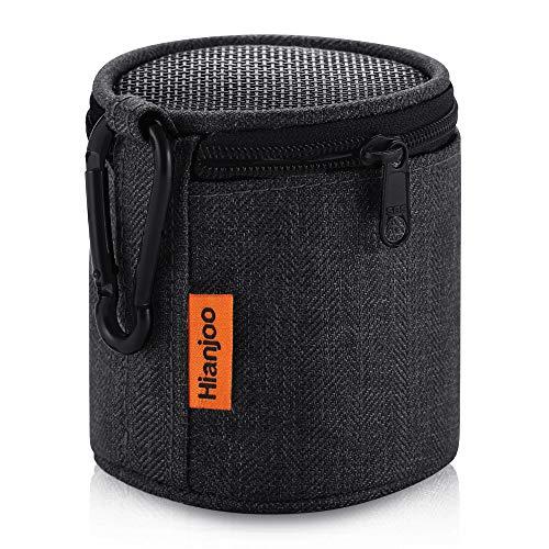 Hianjoo Bluetooth Lautsprecher Tasche für Anker So&Core Mini/Betron KBS08 BPS60/EasyAcc Mini Bluetooth Lautsprecher,Tragbare Drahtlose Bluetooth Lautsprecher Tasche Hülle mit Karabiner,Dunkelschwarz