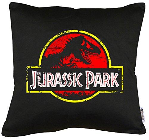 Metal Band Kostüme Halloween (TLM Jurassic Park Distressed Logo Kissen mit Füllung)