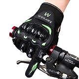 zyurong® Gants de cyclisme Mountain Bike Gants Racing Vélo Route Lumière Gants en Silicone Gel pour cyclisme gants gants de vélo gants d'équitation pour homme/femme gants de travail L Black + Green