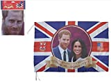 "30"" Flag The Royal Wedding Harry & Meghan Commemorative Flag 30"" x 20"""