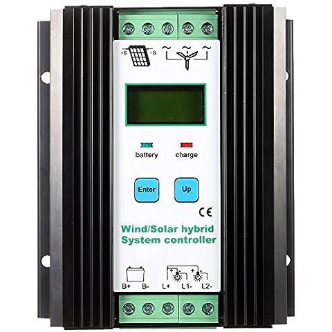 PWM Solar Anself Infratex económicos del sistema híbrido controlador (600 W viento + 400 W Solar) 12 V/24 V identificación automática del nivel de la calle controlador de iluminación de protección