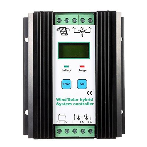 Walmeck Hybrid Solar Wind Charge Controller Solarladeregler Windladeregler Wind: 600W PV: 400W