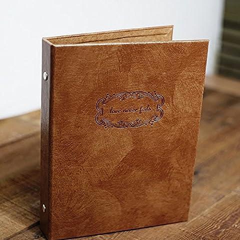 saibang Retro in pelle fai da te album fotografico e Notebook, matrimonio autoadesiva Guestbook Scrapbooking Diario, Modo Perfetto Per presentare le tue foto e registrare la tua vita