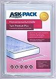 ASK Pack Premium Matratzenschutzhülle Twin für 140cm Breite/bis 25cm Hohe/bis 220cm Lange Matratze...
