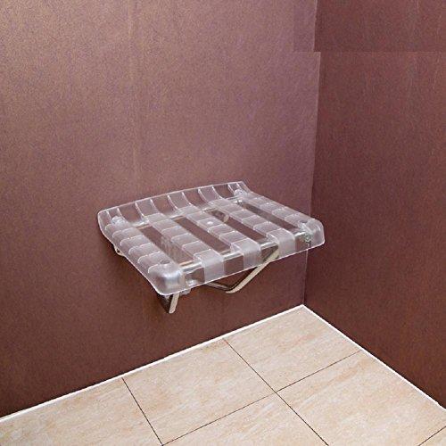 GJX@ Doccia bagno scarpa sedie pieghevoli corridoio parete (250 lbs)