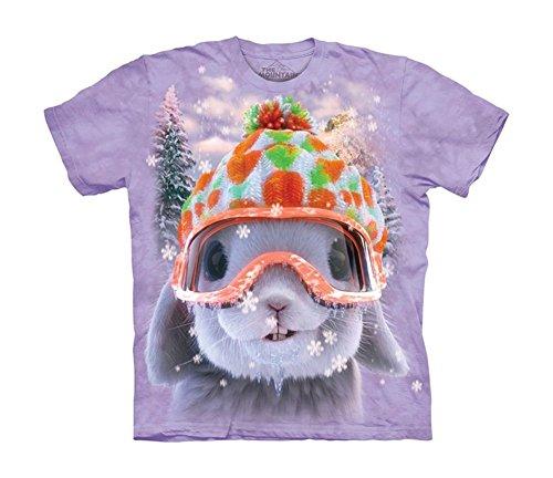 The Mountain Unisex Kinder Snow Bunny Rabbit T Shirt Lila