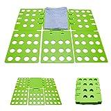 Faltbrett Zusammenklappbar - Grün ca. 29 x 23 x 1 cm - Wäschefalter als Falthilfe für Hemden Blusen Shirts - Grinscard