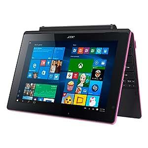 """Acer Aspire Switch 10 E PC Portable 2-en-1 10"""" Tactile Rose (Intel Atom, 2 Go de RAM, Disque Dur 500 Go, Windows 10 Home)"""