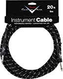 Fender 099-0820-052 Custom Shop 6m Angle Inst. Cable Black Tweed