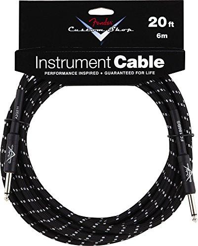 Fender 099-0820-052 Custom Shop  6m Angle Inst. Cable Black Tweed (Fender Gitarre Instrument Kabel)