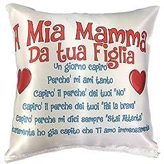 Idea Regalo - BrolloGroup Cuscino Festa della Mamma I Love My Mom A mia Mamma PS 12911-001