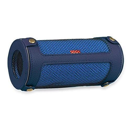 Preisvergleich Produktbild Fintie JBL Flip 3 Tragbare Lautsprecher Hülle Abdeckung - Hochwertiges Kunstleder Schutzhülle Tasche Case mit Karabinerhaken für JBL Flip3 Tragbare Lautsprecher, Marineblau