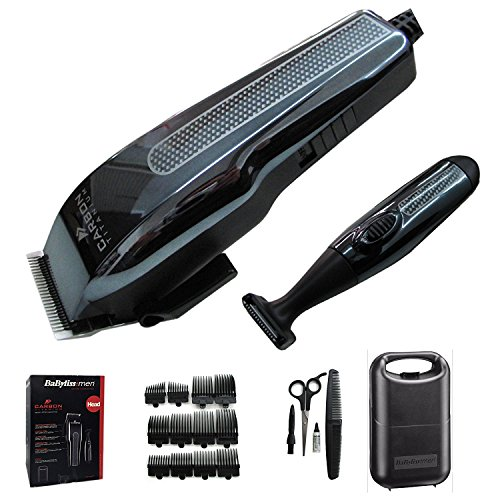 BaByliss 7438AGU Hair Clipper & Detail Trimmer Set Carbon Titanium - 512kTqeCPEL - BaByliss 7438AGU Hair Clipper & Detail Trimmer Set Carbon Titanium