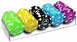 Modiano Set 100 chips da 14g in 5 colori - valori medi