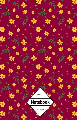 gmco-notebook-journal-dot-grid-lined-graph-120-pages-55x85-calendula-buttercup-floral-flowers-sassy-