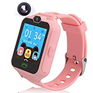 PHRtoy Smart Phone Watch for kids, Unlocked Cell Phone Watch with [Anti-lost SOS] [Camera] [Alarm] [Games] Smart Watch Nice Birthday for Kids, Boys and Girls