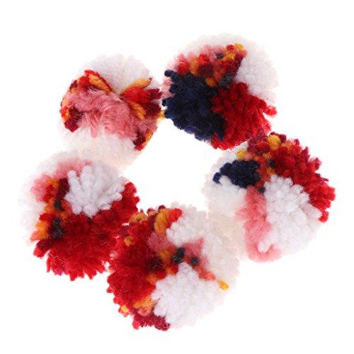 CUIGU 5x Katze Toys Colorful Plüsch Wolle Ball für Welpen/Hunde Kätzchen Kauen Interaktives Kratz -