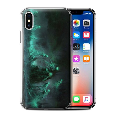 Offiziell Chris Cold Hülle / Gel TPU Case für Apple iPhone X/10 / Rotes Band-Engel Muster / Unterwelt Kollektion Hades/Phantom