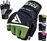 RDX MMA Handschuhe Kinder Kamfsport UFC Boxsack Sparring Training Grappling Gloves Junior Freefight Sandsack Maya Hide Leder Punchinghandschuh(MEHRWEG)