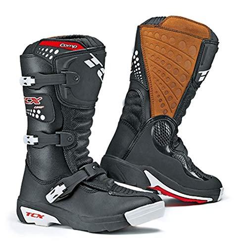 Tcx Comp Off-road-boot (TCX Comp Kid - Kinder-Motorrad-Stiefel - Motocross/Offroad - Schwarz - EU38 (UK 5))