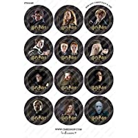 Toppershack 12 x decoración para pasteles comestibles PRECORTADAS de Harry Potter