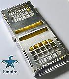 Premium da Empire dentale sterilizzazione cassette, vassoio in autoclave, rack, scatola con serratura, 5-instruments 'Giallo (nuova)' Acciaio INOX tedesco CE anti-magnetico 304, CE FDA