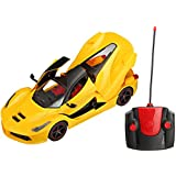 Webby Remote Controlled Super Car with Opening Doors and Dicky, Yellow