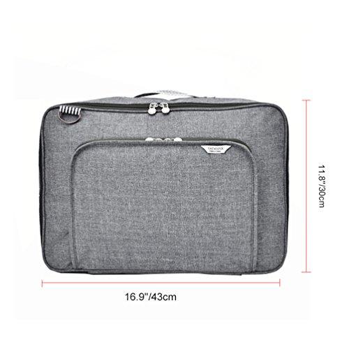 Vbiger Borsetta casual Borsa da viaggio leggera con bagagli Cinghia di fissaggio(Blu) Grigio chiaro
