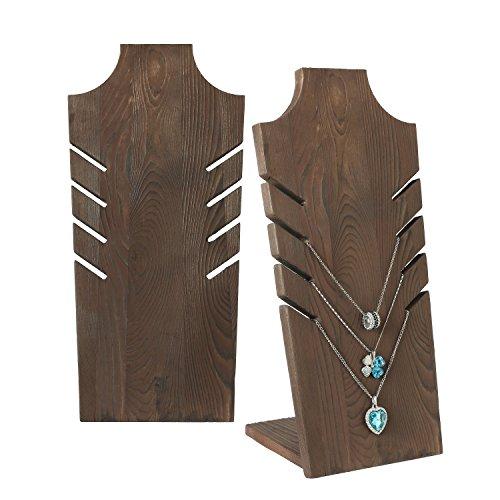 MyGift Set von 2Natur Holz Mehrere Halskette Brustumfang Display Ständer, Braun-für bis zu - Kommode Kostüm