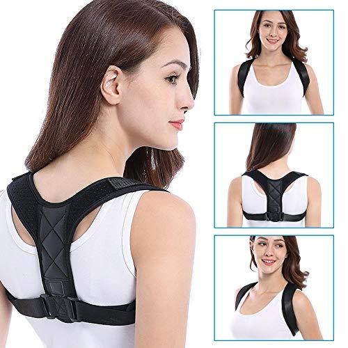 ktor Für Männer Frauen, Einstellbar Körperhaltung des Oberen Rückens Korrigieren Schmerzlinderung Aus Nacken, Rücken Und Schulter (Schwarz) ()