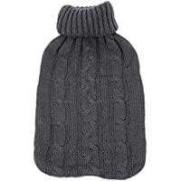 2l Wärmflasche Tasche Sleeve Strickbezug, großes Fassungsvermögen Entspannende Hitze/Kälte Therapie 2000ml preisvergleich bei billige-tabletten.eu