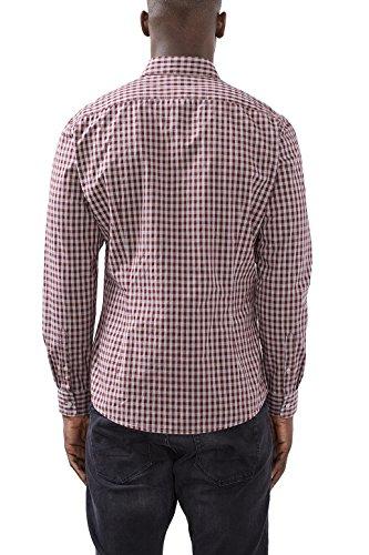 ESPRIT, Camicia Uomo, Blu Rosso (bordeaux Red 600)