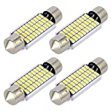 Safego 4x C5W LED Canbus Senza Errori 41mm 30SMD 3014 Lampadine per Luci Interne Auto o Targa a LED Bulbi 211-2 578 Xeno Bianco 6000k-6500k
