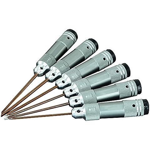 Meijunter 6PC 1.5/2.0/2.5/3.0/4.0mm Anti Slip Screwdrivers Tool