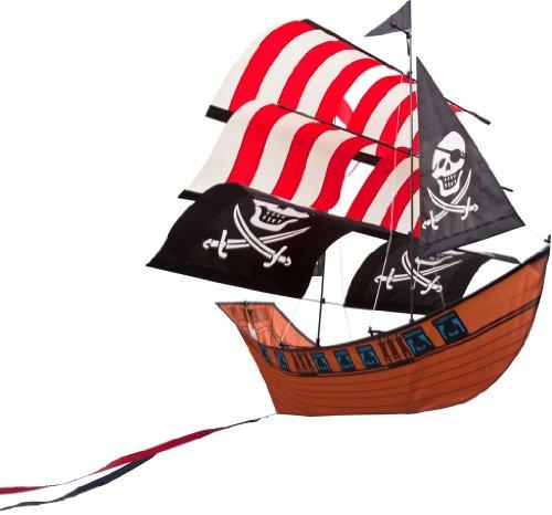 Preisvergleich Produktbild Invento 106260 - Blackbeard's Ship Kite, Kinderdrachen Einleiner, Ab 8 Jahren, 86 x 83 cm Ripstop-Polyester 4-6 Beaufort