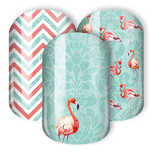 Sticker Gigant Nail Wraps / Nagelsticker - Flamingo, 1 Stück