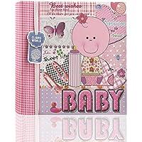 """Arpan–Baby Boy azul/bebé niña rosa álbum de fotos de en la portada (200fotos de 6""""x4Ideal regalo"""